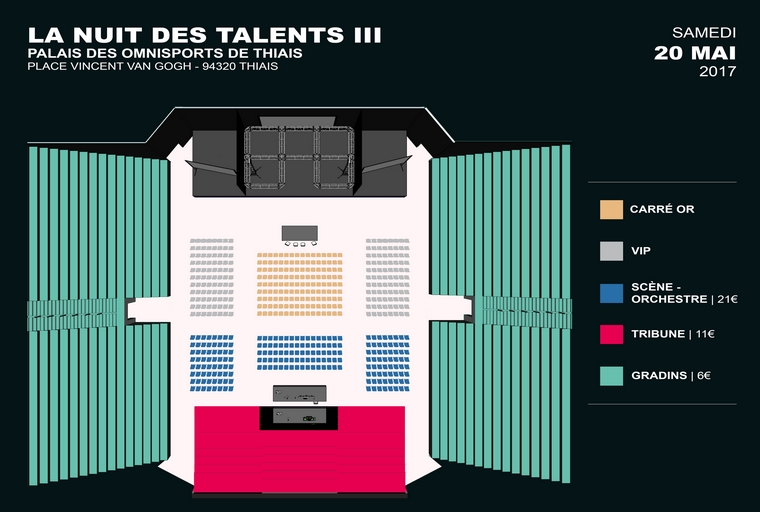 Billetterie Émission Nuit des Talents 3